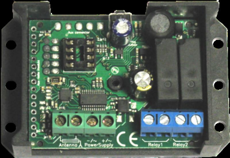 MySESAM Unirec2, Garagentor Funkempfänger 2 Kanal Empfänger geeignet für Garagen und Einstellhallen.